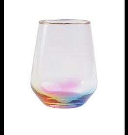 Vietri Rainbow Stemless Wine Glass
