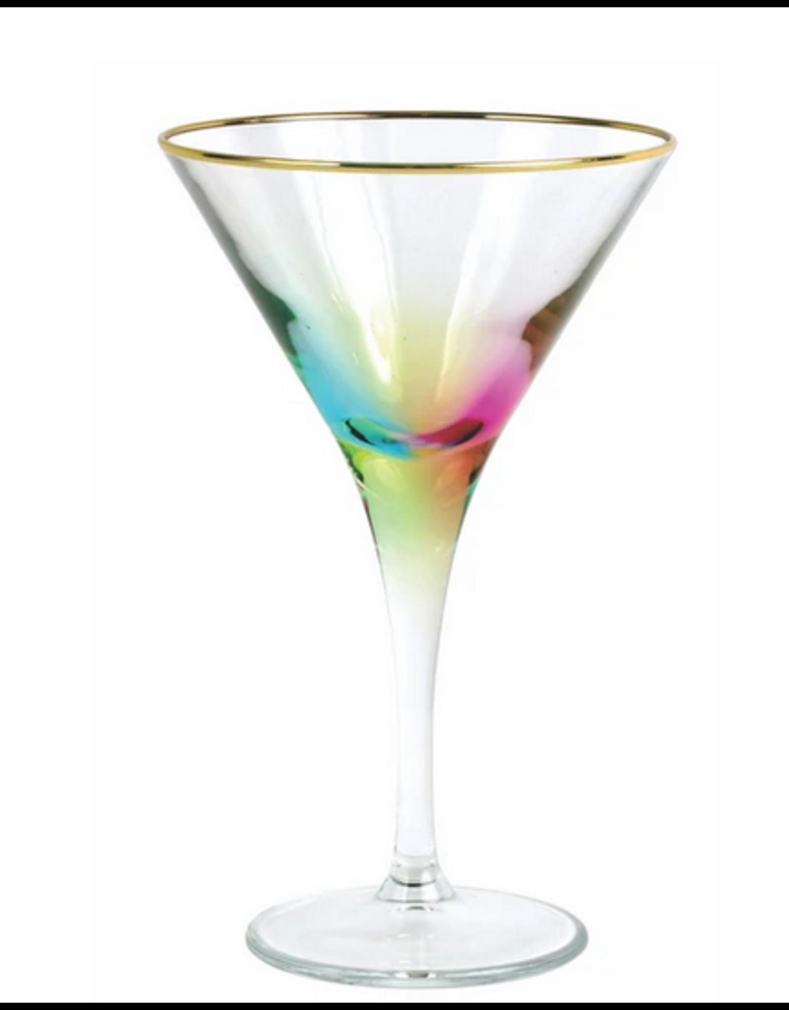 Vietri Rainbow Martini Glass