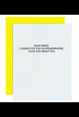 Chez  Gagne Speaker Phone Card