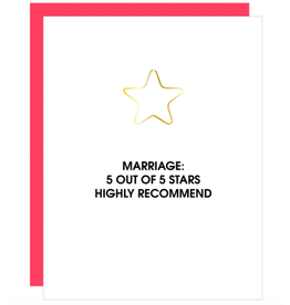 Chez  Gagne Marriage Star Card