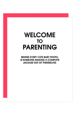 Chez  Gagne Welcome to Parenting Card