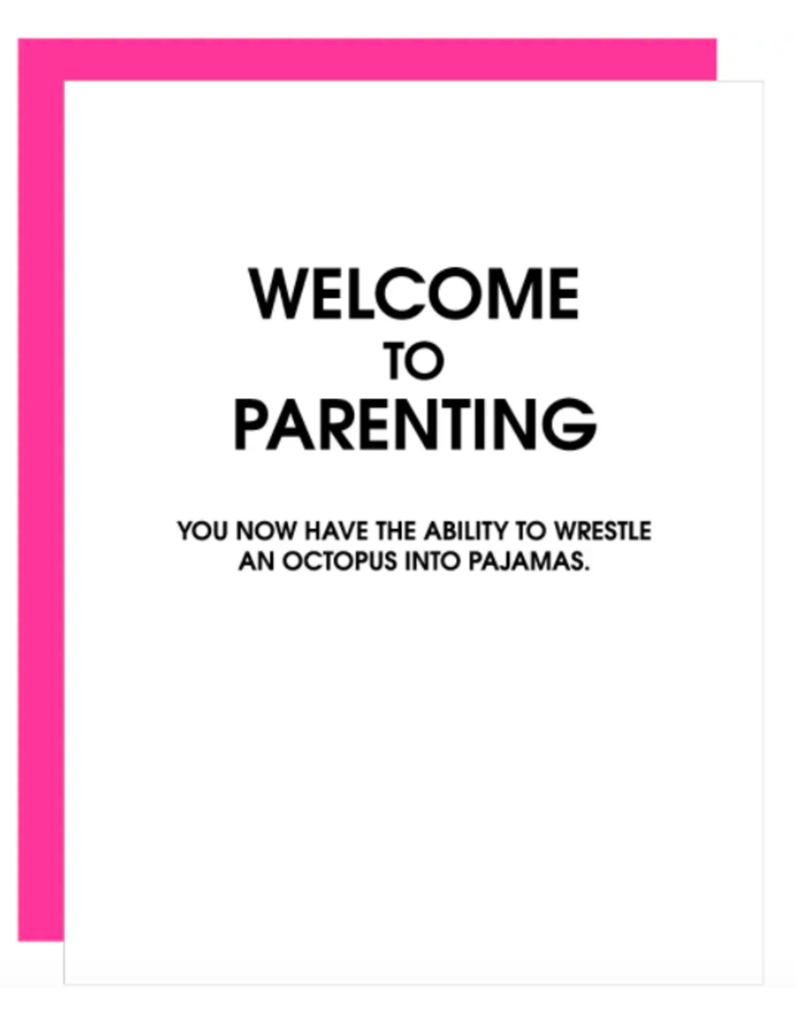 Chez  Gagne Welcome to Parenting Octopus Card
