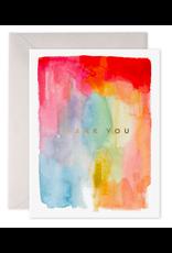 E. Frances Colorful Thanks Card