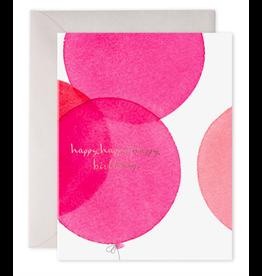 E. Frances Pink Balloons Card
