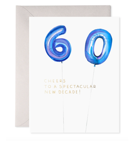 E. Frances Helium 60 Birthday Card