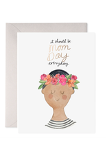 E. Frances Flower Crown Mom Card