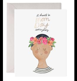 E. Frances Flower Crown Mom Card