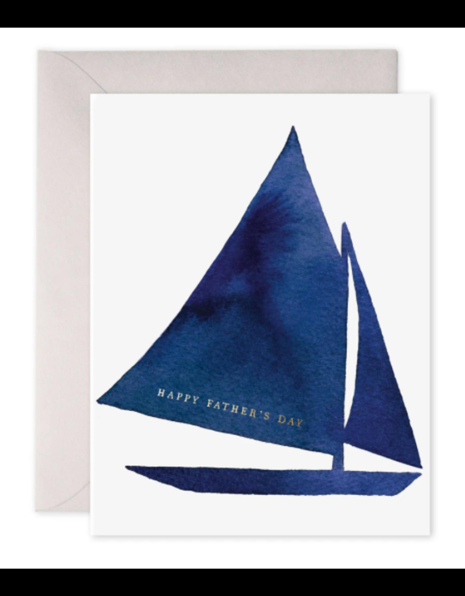 E. Frances Father's Day Sailboat Card