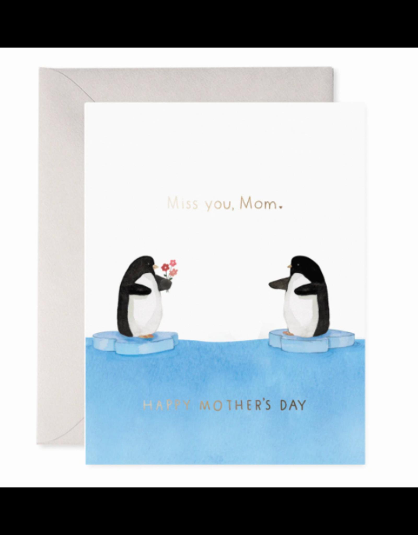 E. Frances Penguin Mom Card
