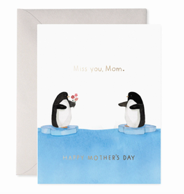 E. Frances Penguin Mom Card