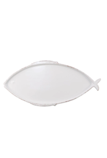 Vietri Melamine Lastra Fish Large Oval Platter White