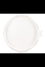 Vietri Melamine Lastra Fish Round Platter White