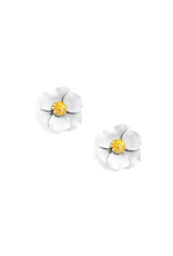 Zenzii Tiny Flower Earring in White