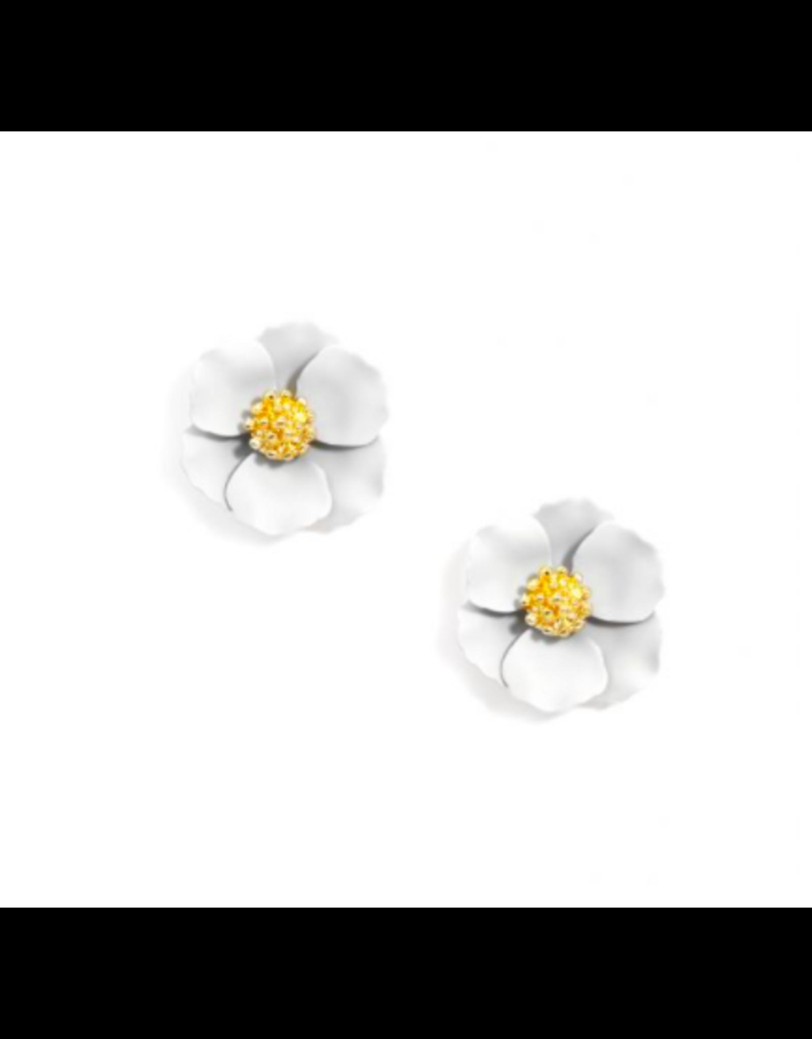 Zenzii Tiny Flower Earring in White