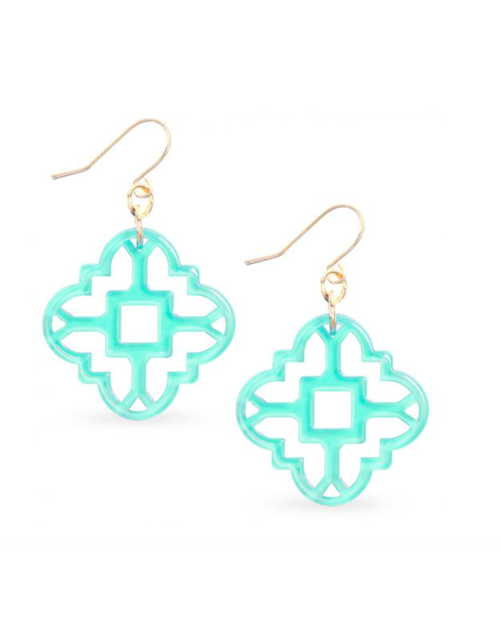 Zenzii Modern Mosaic Earrings in Mint