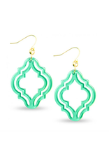 Zenzii Lattice Drop Earring in Mint