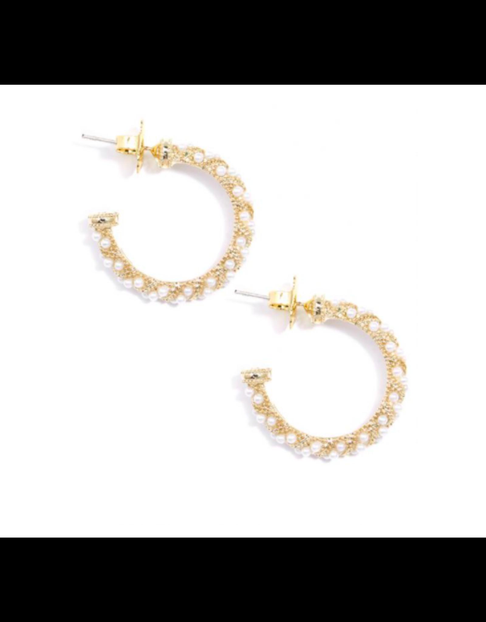 Zenzii Luxe Mini Pearl Hoop Earring