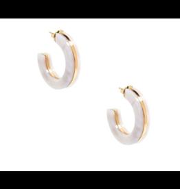 Zenzii Chunky Tortoise Hoop Earring in White