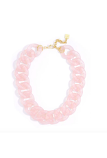 Zenzii Lucite Links Necklace in Rose
