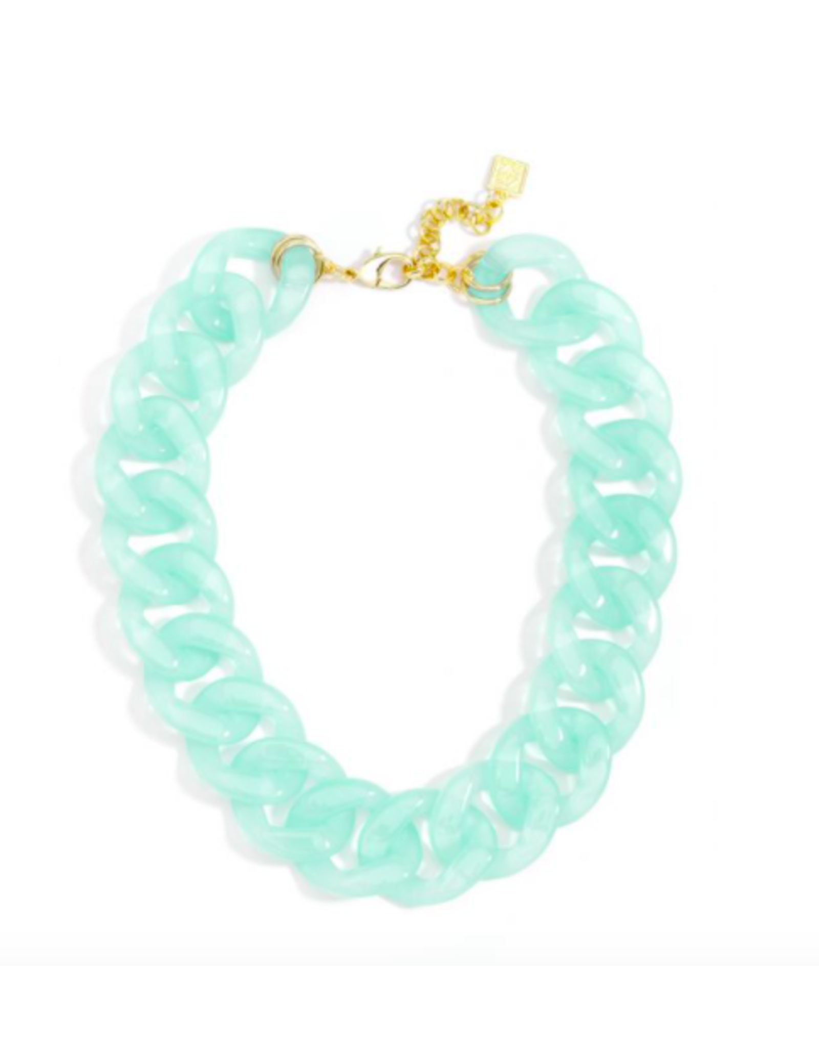 Zenzii Lucite Links Necklace in Mint