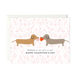 Paula and Waffle Vday Daschshunds Card