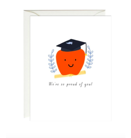 Paula and Waffle Apple Graduation Card
