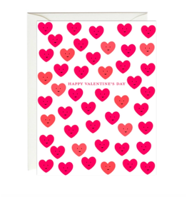 Paula and Waffle Cute Valentine's Day Hearts Card