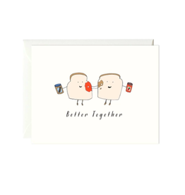 Paula and Waffle Better Together Card