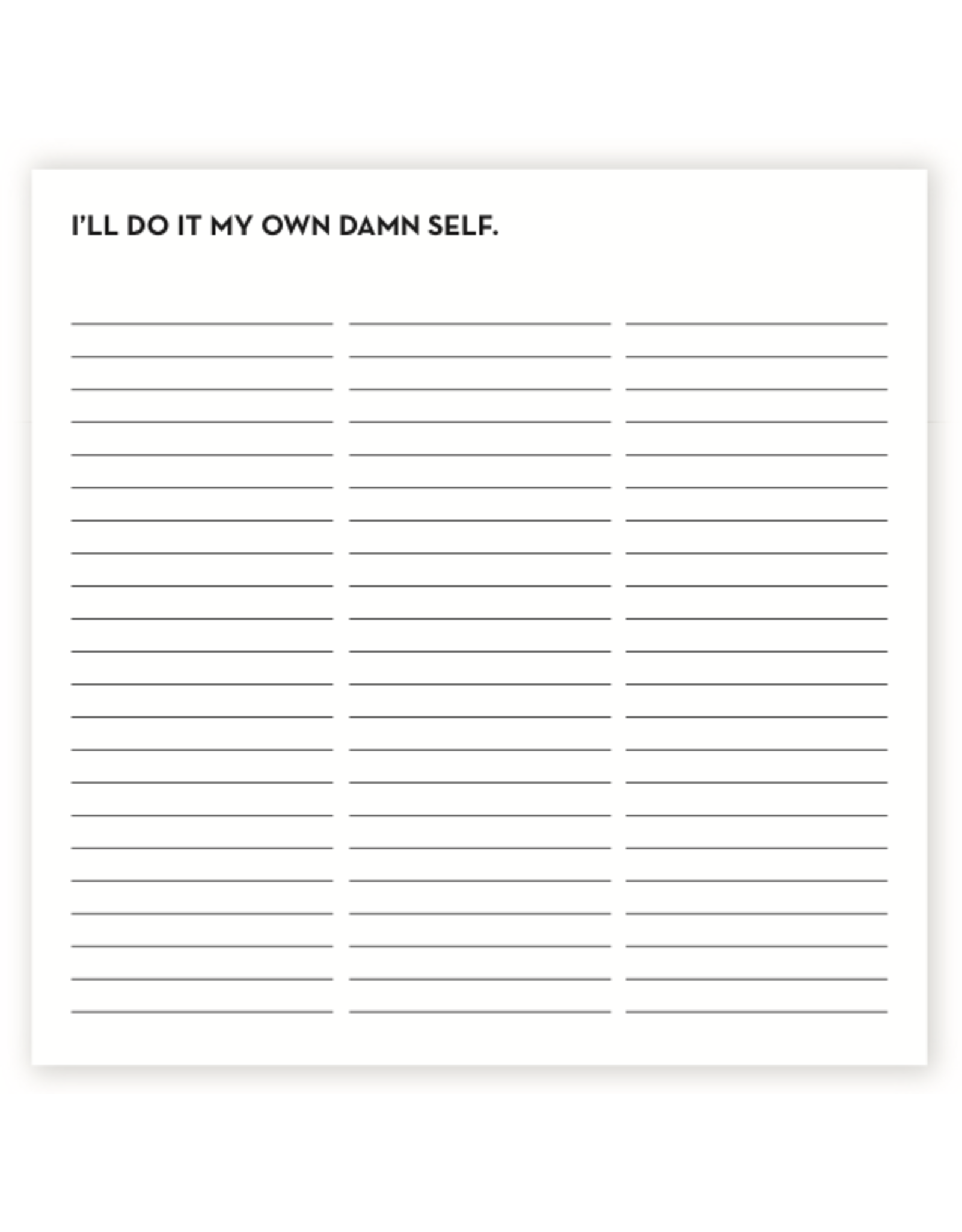 Sapling Press I'll Do It Notepad