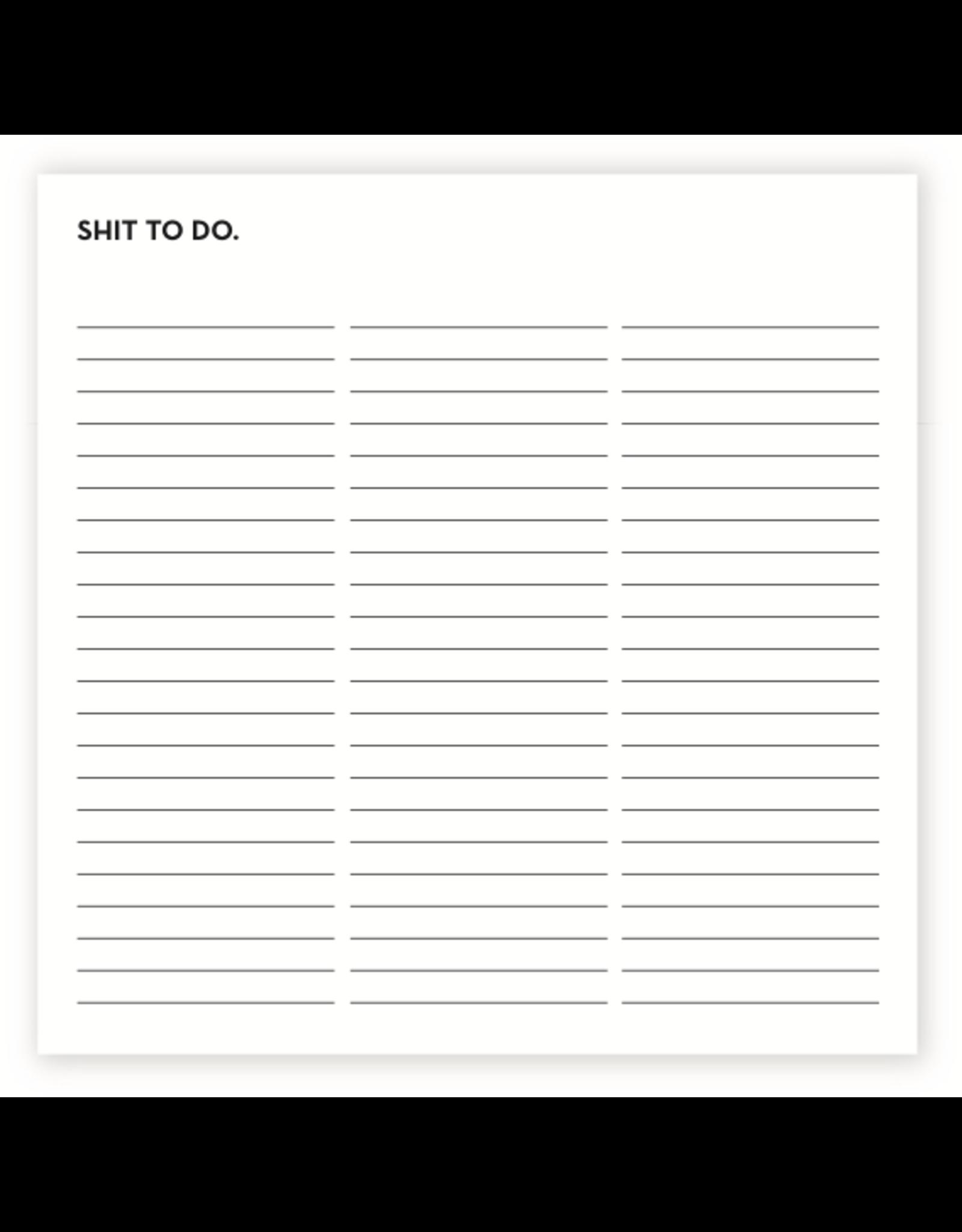 Sapling Press Shit To Do Notepad