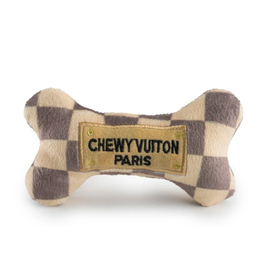 Haute Diggity Dog Chewy Vuiton Checker Dog Toy