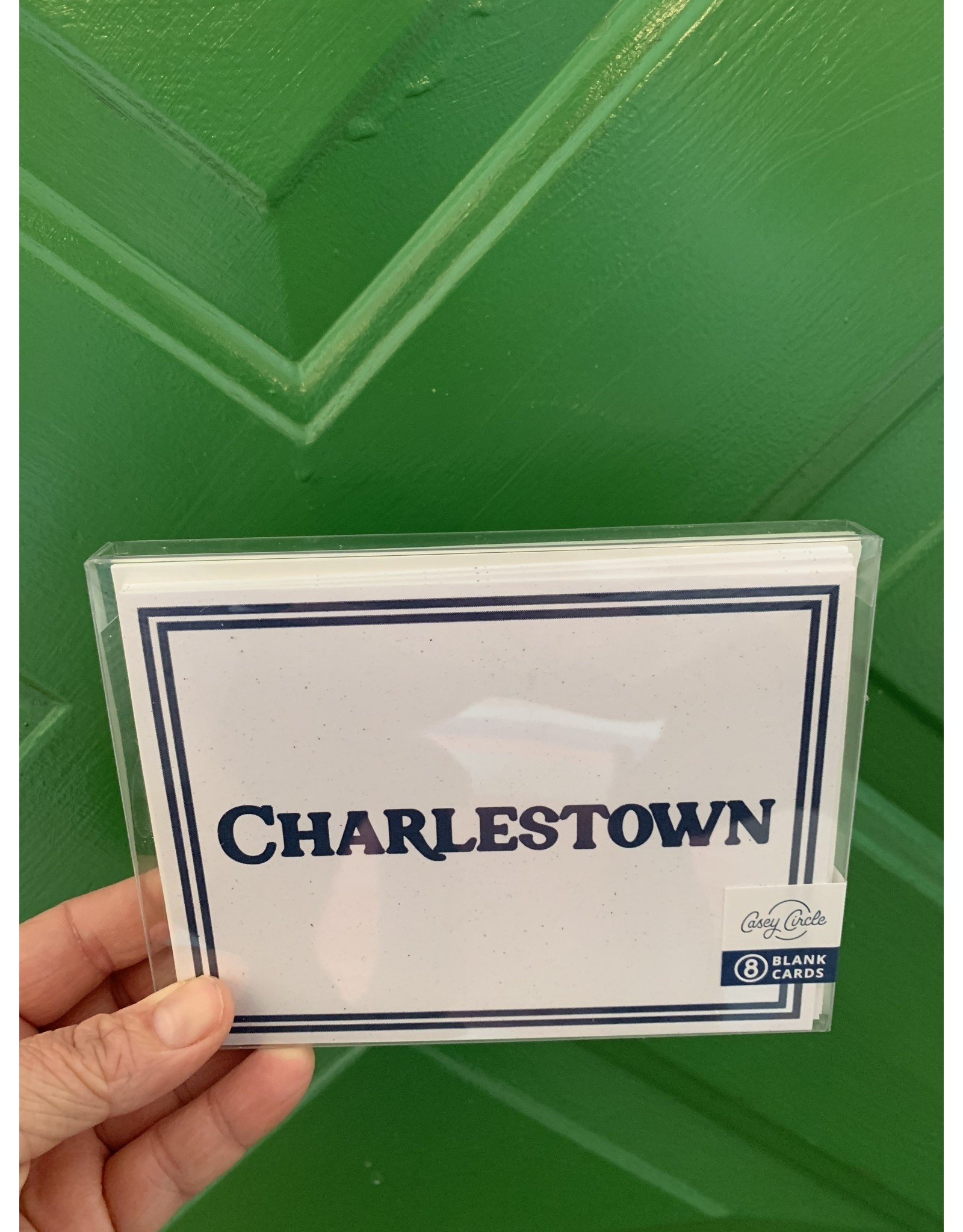 Casey Circle Charlestown Navy Border Card Boxed Set