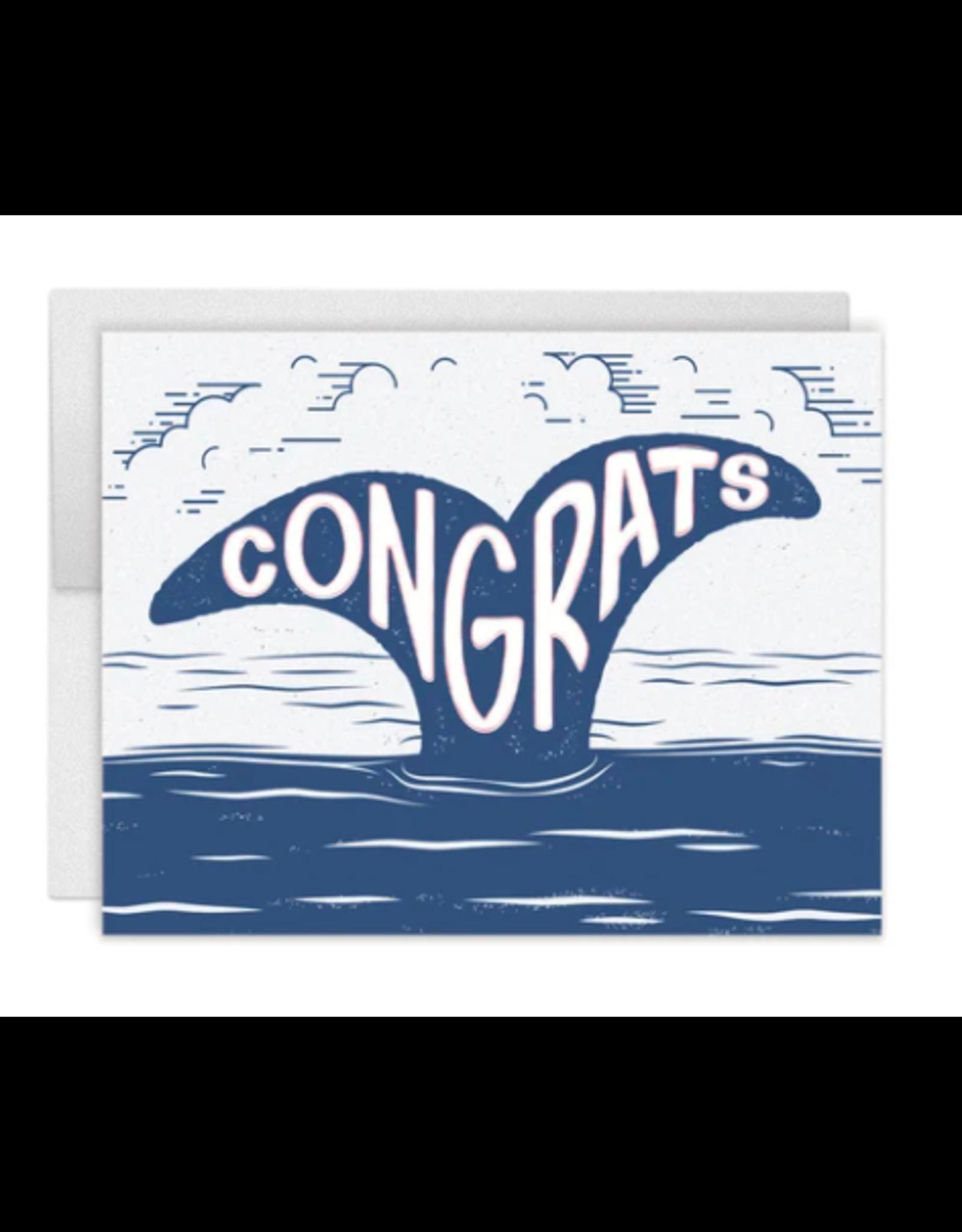 Casey Circle Whale Congrats Card
