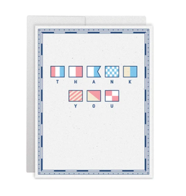 Casey Circle Signal Flag Thank You Card