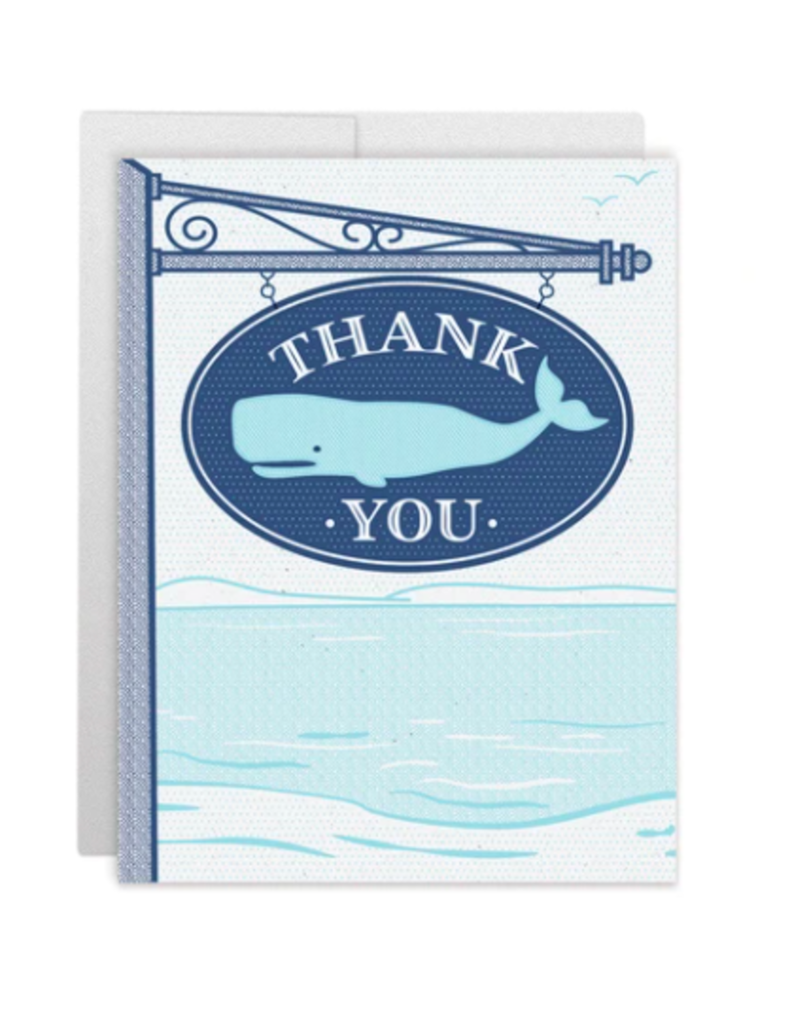 Casey Circle Whale Sign Card