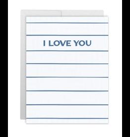 Casey Circle I Love You Navy Card