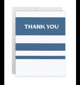 Casey Circle Navy Stripe Thank You Card