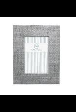 Mariposa Pale Gray Faux Grasscloth 4x6 Frame