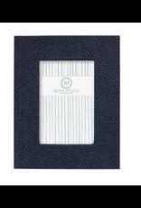 Mariposa Indigo Blue Faux Grasscloth 4x6 Frame