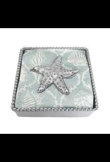 Mariposa Sea Star Beaded Napkin Box