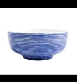 Vietri Santorini Stripe Medium Footed Serving Bowl