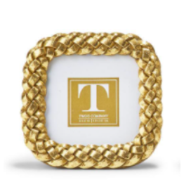 Rounded Square Braided Gold Frame 3x3