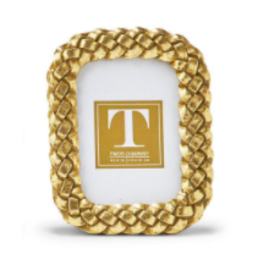 Rectangle Rounded Braided Gold Frame 2x3
