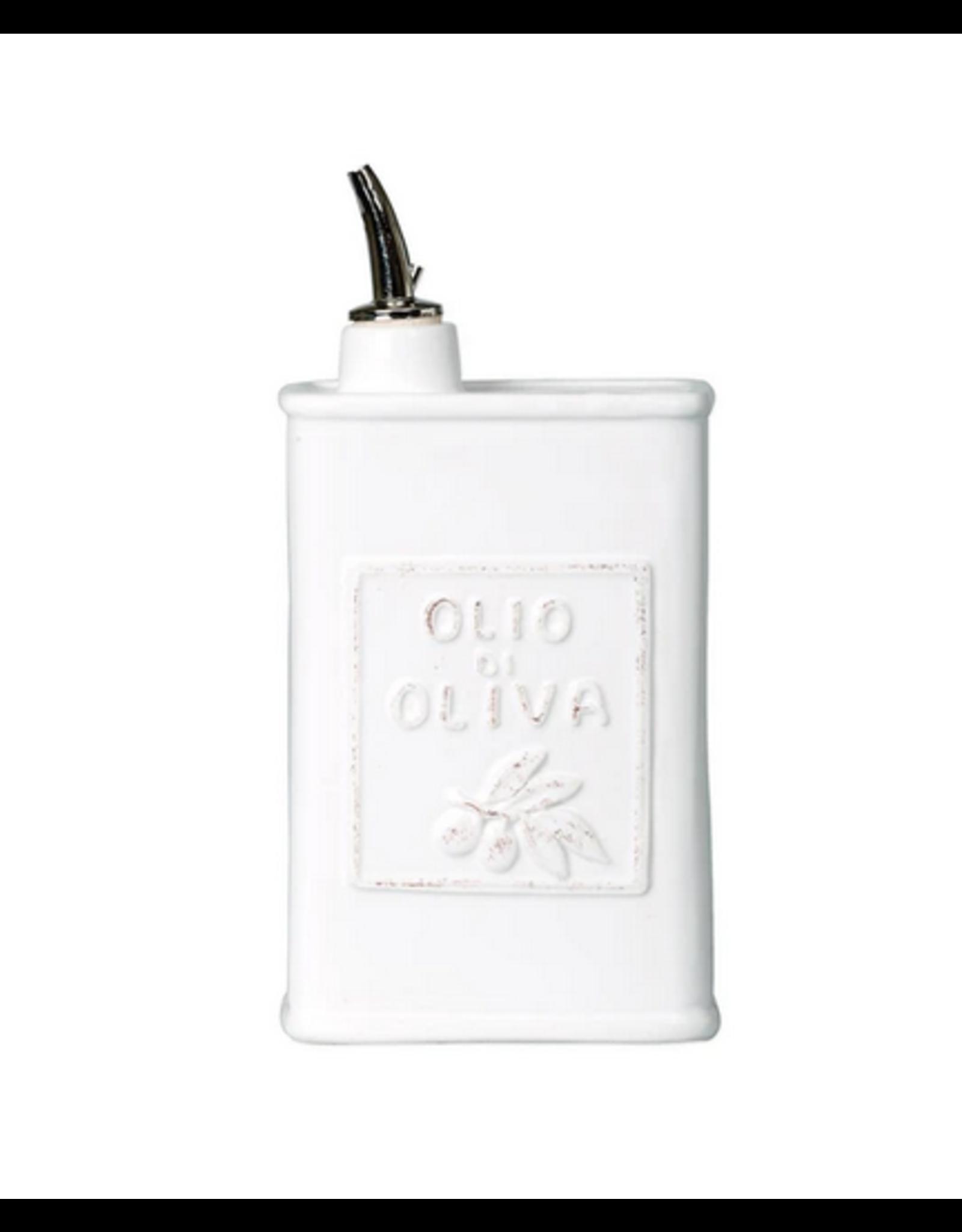 Vietri Lastra Olive Oil Can in White