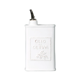 Vietri Lastra Olive Oil Can in White