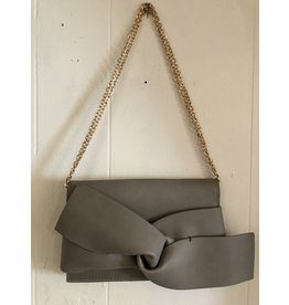 Accessories Shop by Place & Gather Taupe Bow Clutch