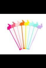 Kailo Chic Rainbow Bunny Acryllic Drink Stirrers