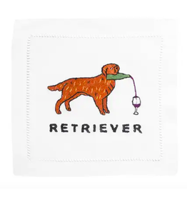 August Morgan Golden Retriever Cocktail Napkin