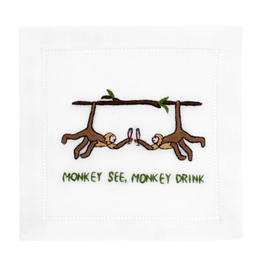 August Morgan Monkey See Monkey Drink Cocktail Napkin