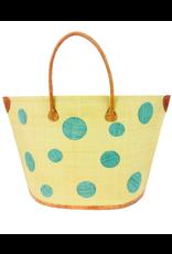 Accessories Shop by Place & Gather Capri Dot Raffia Bag in Cornflower Blue